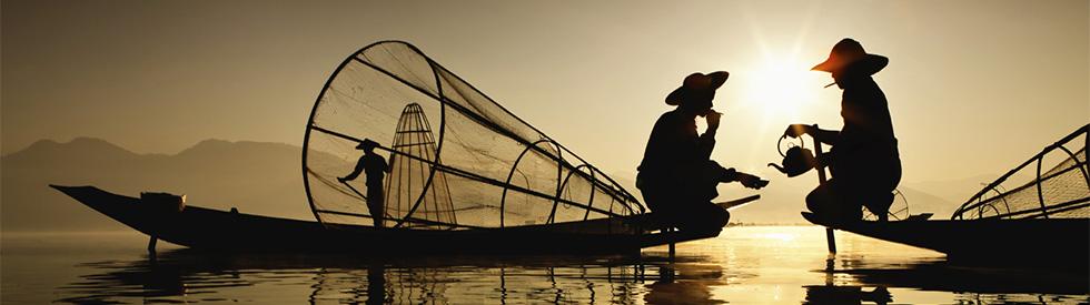 Fisherman in Cam Ranh Bay - Vietnam